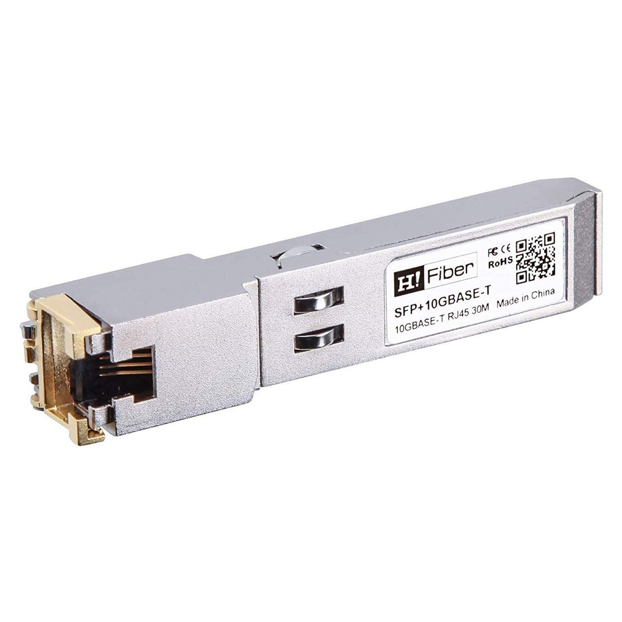 SFP+ Copper Transceiver 10GBase-T, Cat 6a/7, 30M 4
