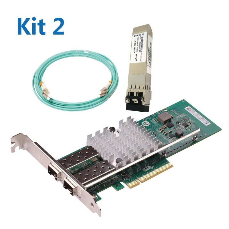 [WG-X520-DA2 CNA] + [SFP+ SR]+ [Patch Cord 10Meters] Kit2#