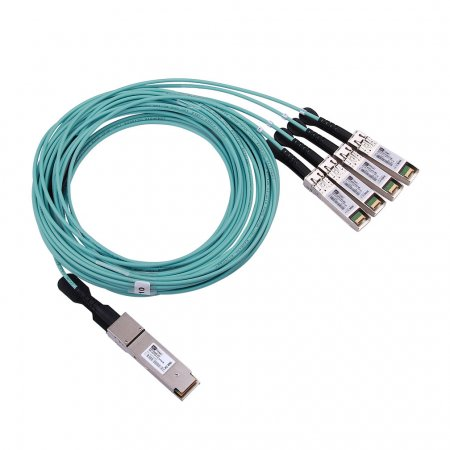 7m(23ft) 100G QSFP28 to 4 SFP28 AOC(Active Optical Cable), Breakout, Customized