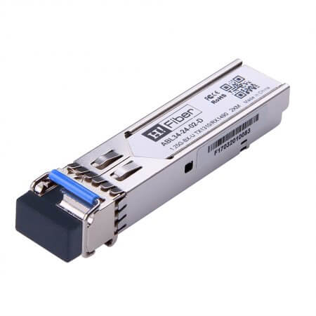 Cisco GLC-BX02-U-D Compatible 1000BASE-BX-U SFP BIDI Tx1310nm/Rx1490nm 2km DOM Transceiver Module for SMF