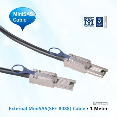 External MiniSAS Cable, 1-Meter