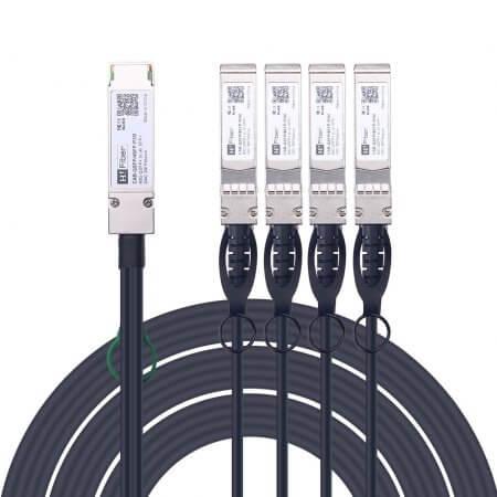 QSFP+ to 4xSFP+ Copper Breakout Cable, 3m, Passive | QSFP-4SFP10G-CU3M