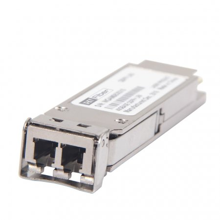 For Cisco QSFP-40G-LR4, 40GBASE-LR4 QSFP40G transceiver for Single Mode Fiber, 4 CWDM lanes in 1310nm window Muxed inside module, Duplex LC connector, 10km, Multi-rate Support (40G Ethernet and OTU3)