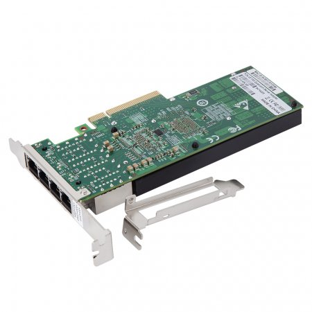 10 Gigabit Ethernet CNA/NIC, PCI Express x8, Quad RJ45 Ports, Compatible with Intel X710-T4