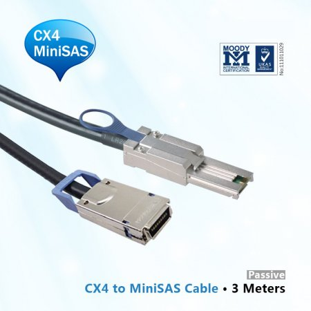 10GbE CX4 to MiniSAS(SFF-8088) Cable 3M