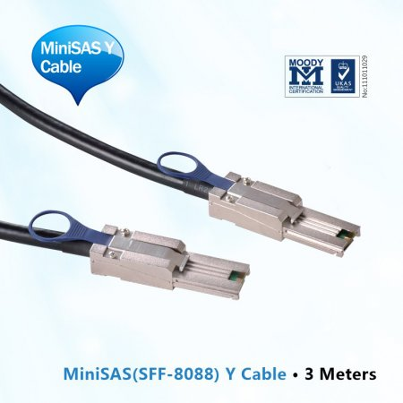 MiniSAS Y Cable ,3-Meter