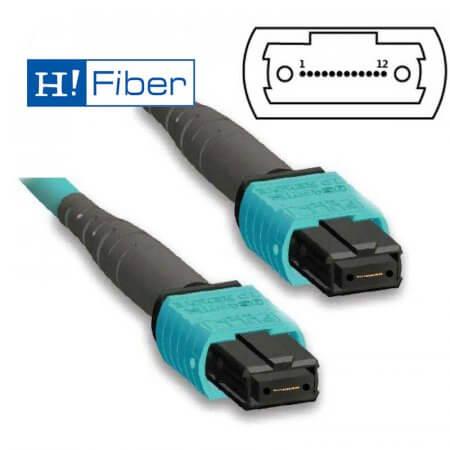 MPO, OM3, 8Core Fiber Patch Cord